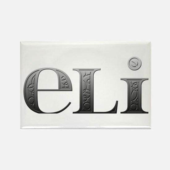 Eli Carved Metal Rectangle Magnet