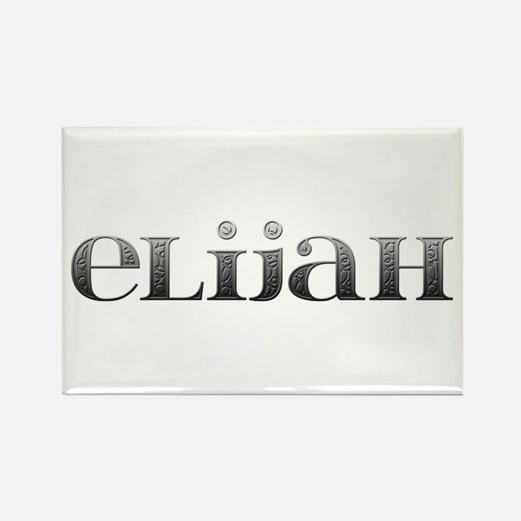 Elijah Carved Metal Rectangle Magnet