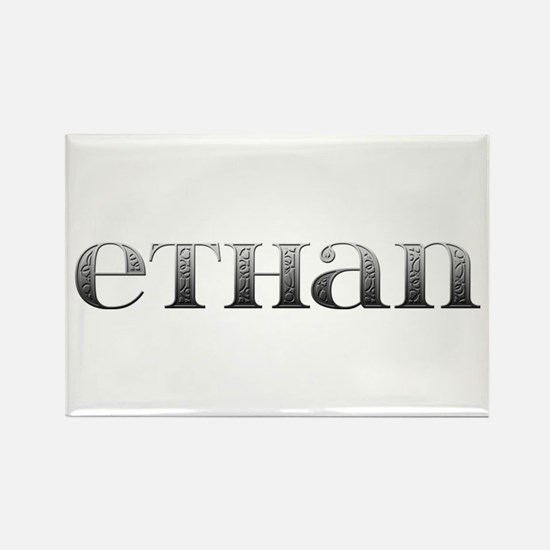 Ethan Carved Metal Rectangle Magnet