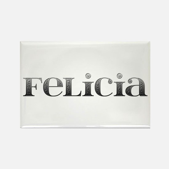 Felicia Carved Metal Rectangle Magnet