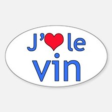 I Love Wine (French) Decal