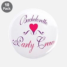 "Bachelorette Party Crew 3.5"" Button (10 pack)"