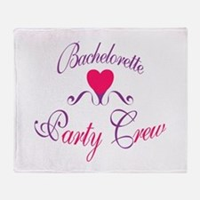 Bachelorette Party Crew Throw Blanket