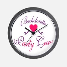 Bachelorette Party Crew Wall Clock