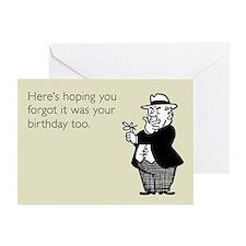 Forgotten Birthday Greeting Card