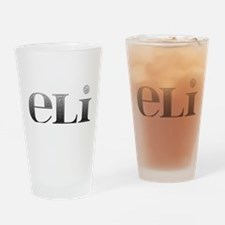 Eli Carved Metal Drinking Glass