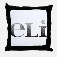 Eli Carved Metal Throw Pillow