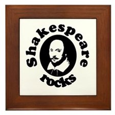 Shakespeare Rocks Framed Tile
