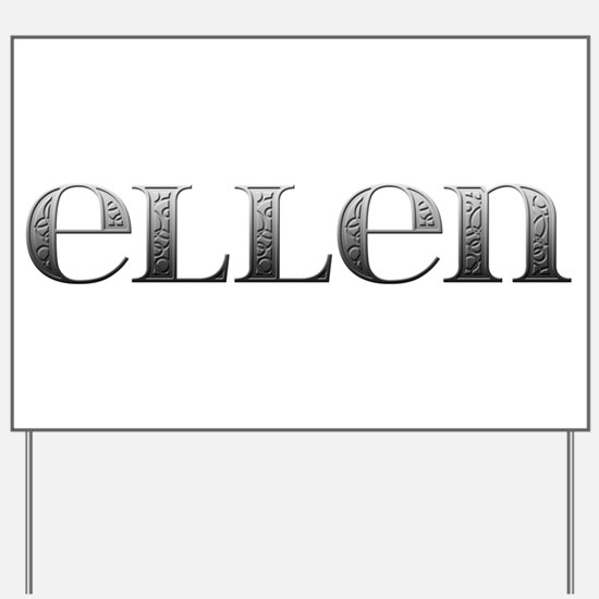 Ellen Carved Metal Yard Sign