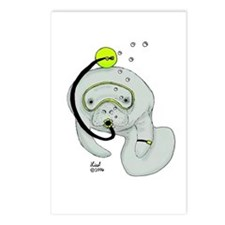SCUBA Manatee Postcards (Package of 8)