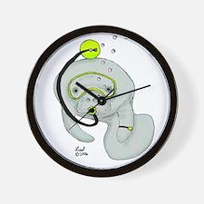 SCUBA Manatee Wall Clock
