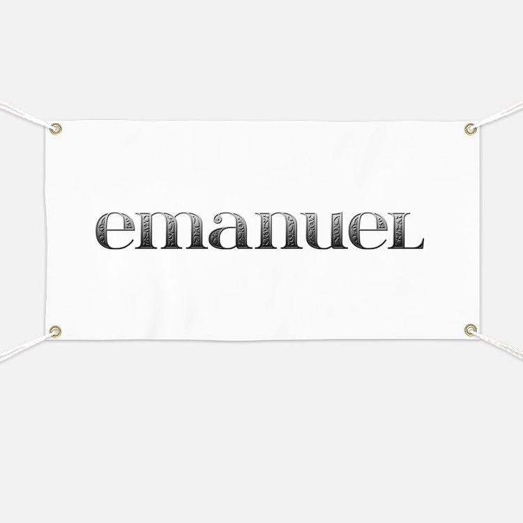 Emanuel Carved Metal Banner