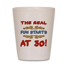 Real Fun 30th Birthday Shot Glass