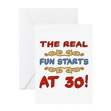 Real Fun 30th Birthday Greeting Card