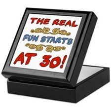 Real Fun 30th Birthday Keepsake Box