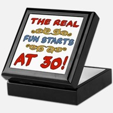 Real Fun 30th Birthday Keepsake Box