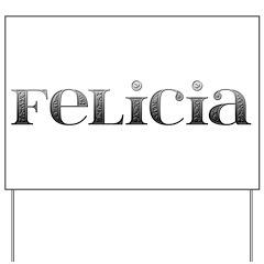 Felicia Carved Metal Yard Sign