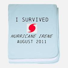 I survived Hurricane Irene baby blanket