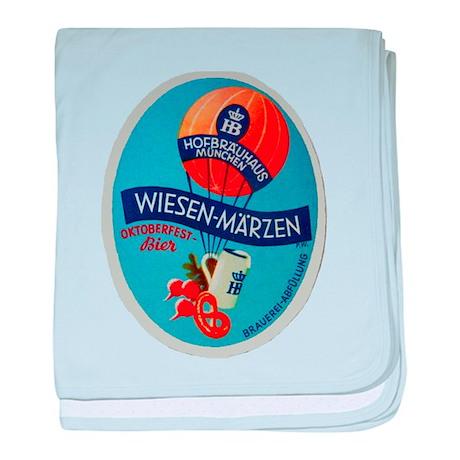 Germany Beer Label 2 baby blanket