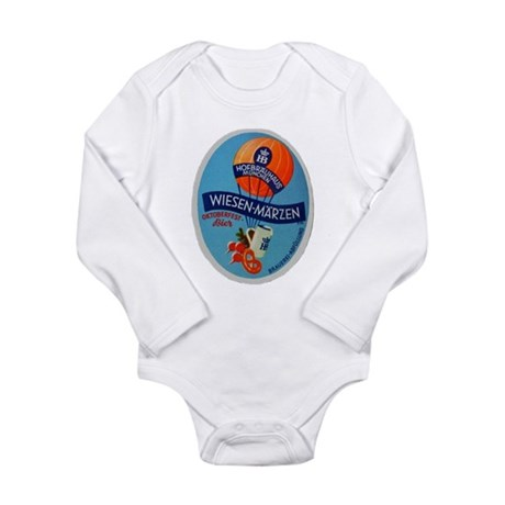 Germany Beer Label 2 Long Sleeve Infant Bodysuit