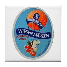 Germany Beer Label 2 Tile Coaster