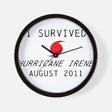 I survived Hurricane Irene Wall Clock