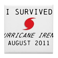 I survived Hurricane Irene Tile Coaster