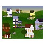 Americana Primitive Landscape Small Poster