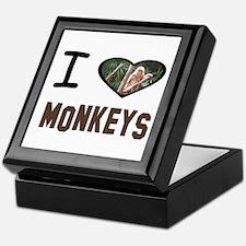 Cute I heart monkeys Keepsake Box