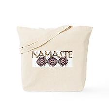 Namaste Flowers Tote Bag