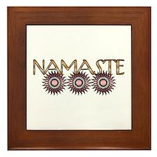Namaste Flowers Framed Tile