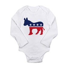 Democrat Donkey Long Sleeve Infant Bodysuit
