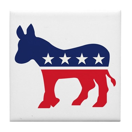 Democrat Donkey Tile Coaster