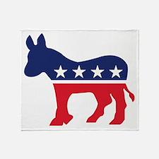 Democrat Donkey Throw Blanket
