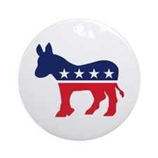 Democrat Donkey Ornament (Round)