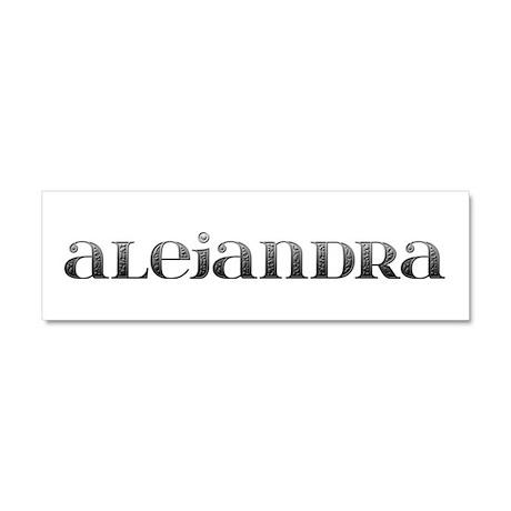 Alejandra Carved Metal 10x3 Car Magnet