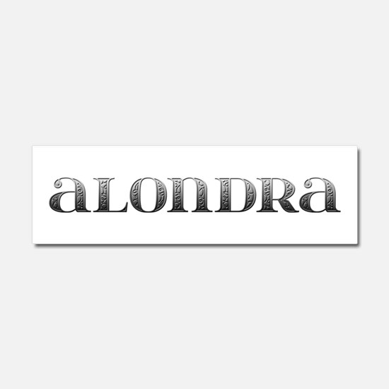 Alondra Carved Metal 10x3 Car Magnet