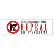Repeal the 17th Amendment Bumper Bumper Sticker