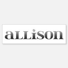 Allison Carved Metal Bumper Bumper Bumper Sticker