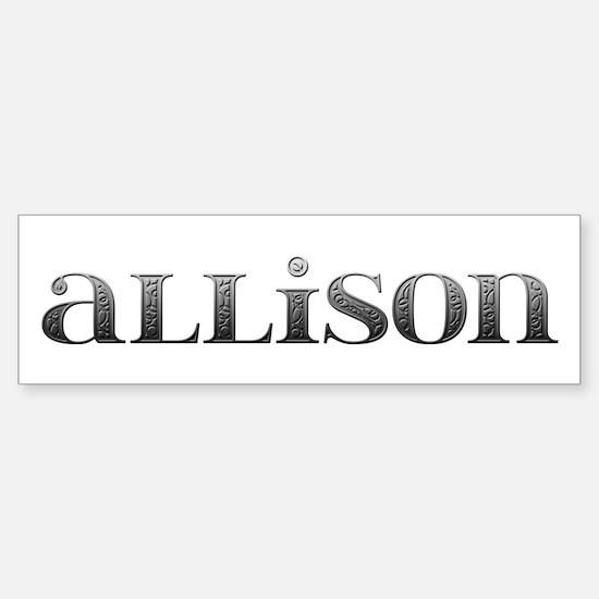 Allison Carved Metal Bumper Bumper Bumper Sticker