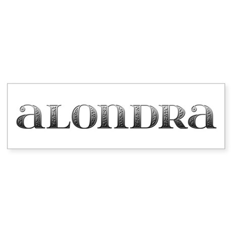 Alondra Carved Metal Bumper Sticker