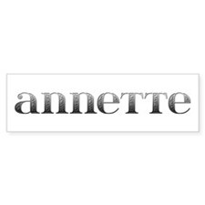 Annette Carved Metal Bumper Bumper Sticker