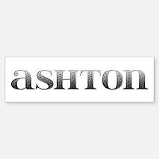 Ashton Carved Metal Bumper Bumper Bumper Sticker