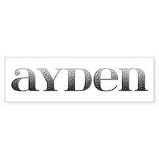 Ayden Carved Metal Bumper Bumper Sticker
