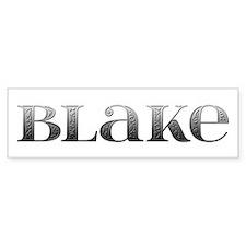 Blake Carved Metal Bumper Bumper Sticker