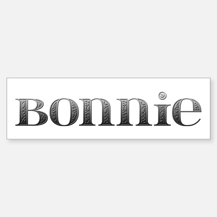 Bonnie Carved Metal Bumper Bumper Bumper Sticker