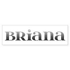 Briana Carved Metal Bumper Bumper Sticker