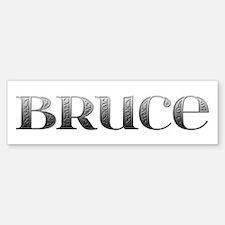 Bruce Carved Metal Bumper Bumper Bumper Sticker