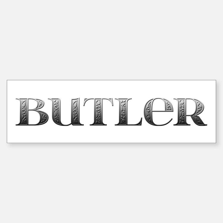 Butler Carved Metal Bumper Bumper Bumper Sticker
