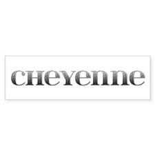 Cheyenne Carved Metal Bumper Bumper Sticker